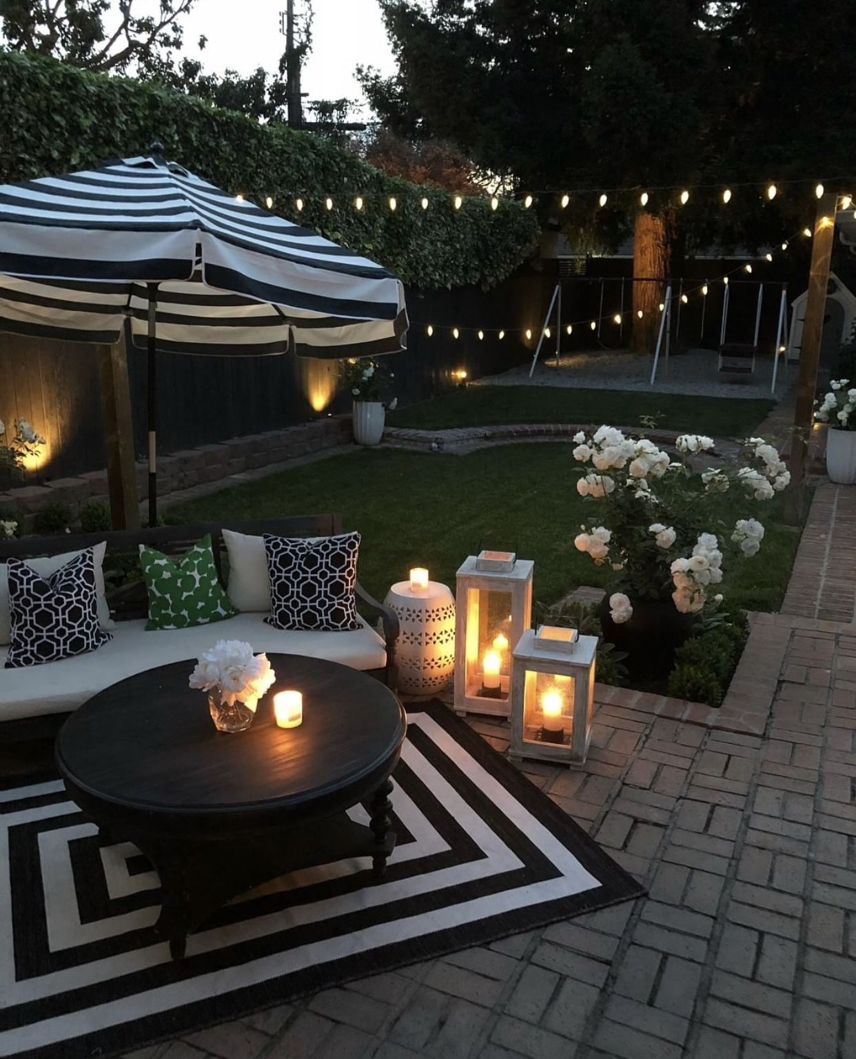 30 Small Backyard Landscaping Ideas On A Budget: 30 DIY Lighting Ideas At Night Yard Landscape With Outdoor