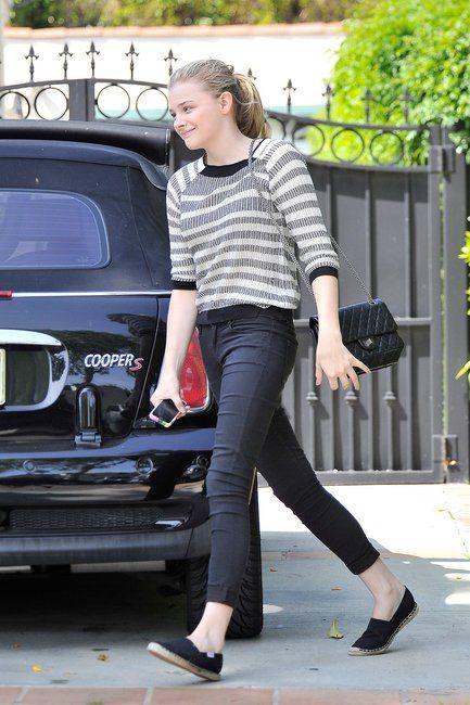 b0142e27f764 chloe moretz purses | celeb celebrity wearing chanel reissue flap bag  camera case purse