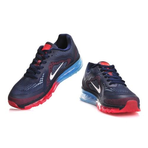 new concept bb3fe 0f60d Cheap Nike Air Max 2014 Dark Blue Sky Red Mens Running Shoes UK Online