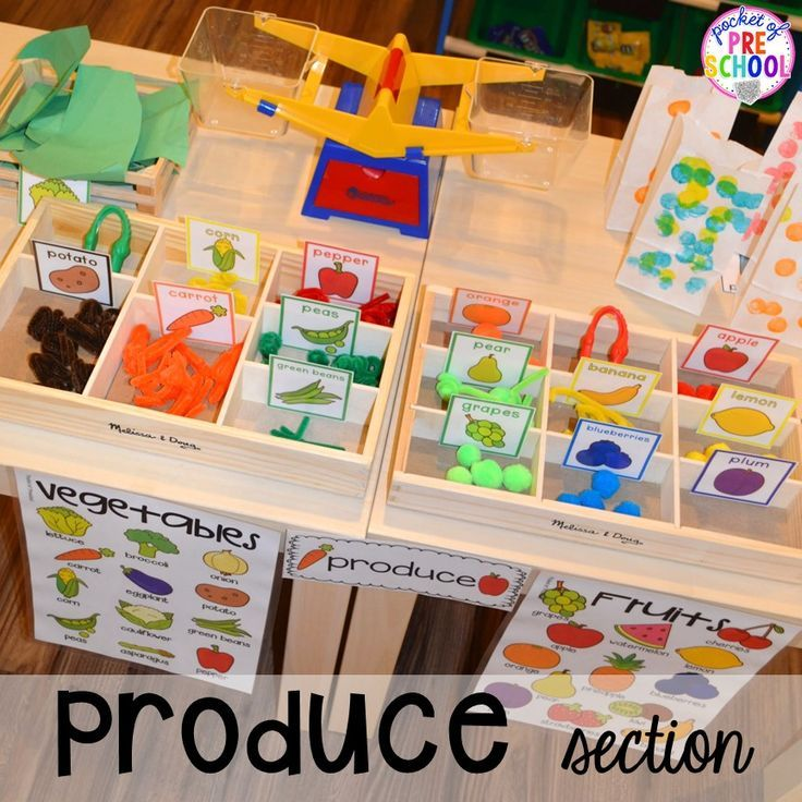 Grocery Store Dramatic Play for Preschool, Prek, and Kindergarten is part of Dramatic play preschool - Grocery Store dramatic play! How to set it up & add literacy and math opportunities to the grocery store in your preschool, prek, & kindergarten classroom