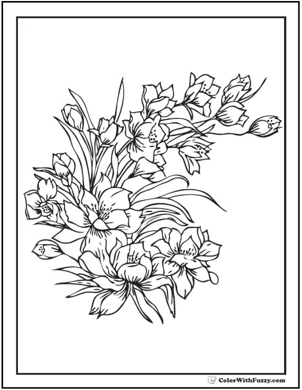 42+ Adult Coloring Pages Customize Printable PDFs Flower