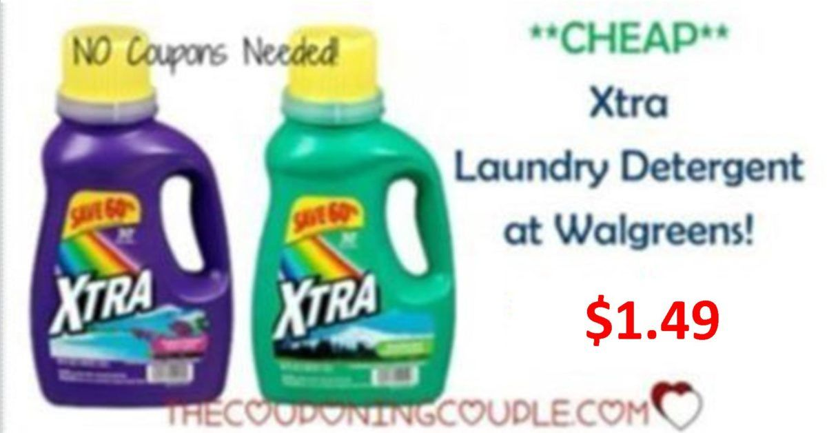 Cheap Xtra Detergent Walgreens Only 1 33 Laundry