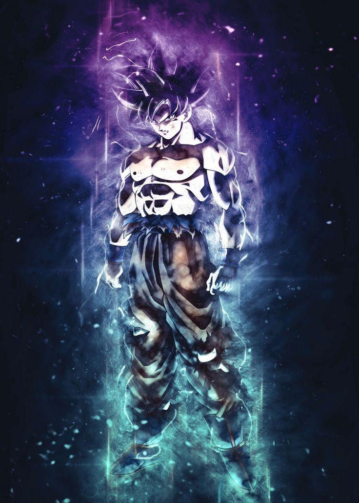 son goku ultra instinct metal poster