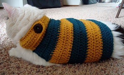 Crochet A Sweater For Your Cat Free Patterns Grandmother S Pattern Book