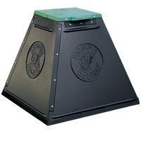 """Hueter Toledo Doggie Dooley In-ground Waste Disposal For 1 To 2 Dogs Black 17"""""""" x 19"""""""" x 3"""""""""""