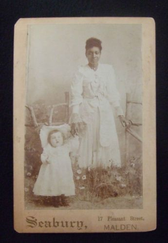 Beautiful African American Nanny with White Child Cabinet Card | eBay