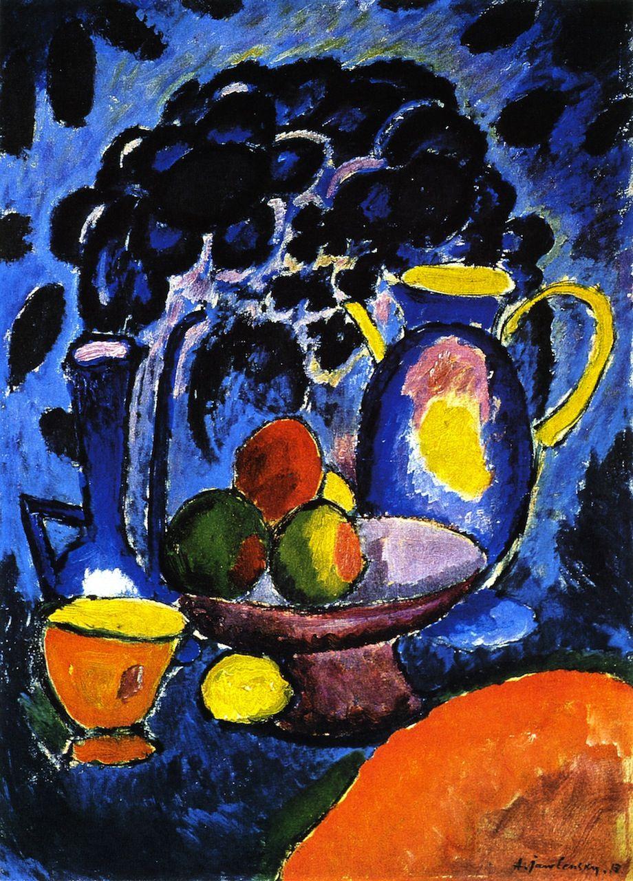 Alexei Jawlensky Life With Blue Jug 1913 Art Artists