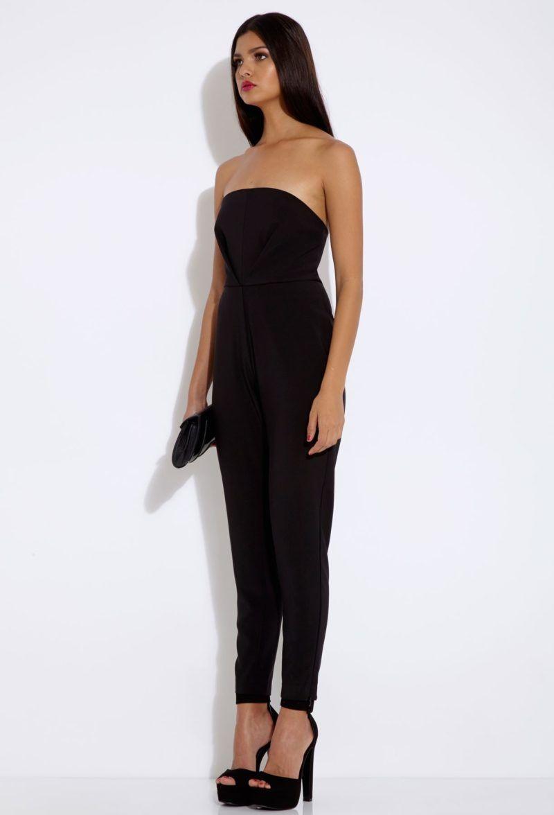 50422404c55b Black Strapless Jumpsuit