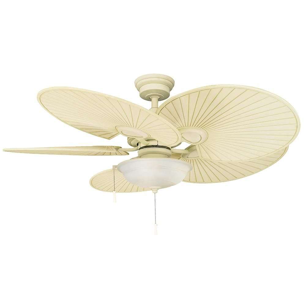 Hampton Bay Havana 48 In Led Vintage White Ceiling Fan With