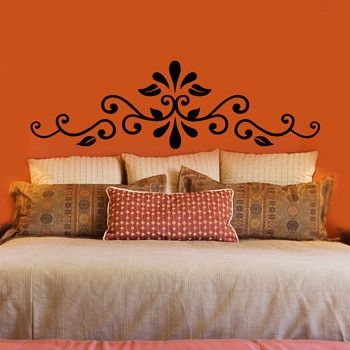 wall decal instead of headboard bold color maybe not for on wall stickers for bedroom id=26104