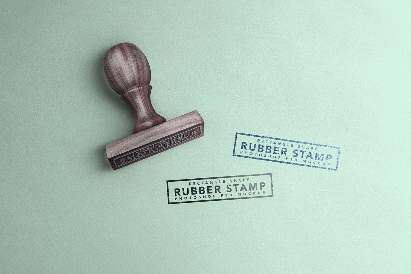 Free Modern Rubber Stamp Mockup Pd Mockup Design Mockup Stamp