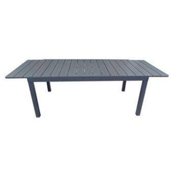 Table de jardin NATERIAL Pratt rectangulaire gris   Leroy Merlin ...