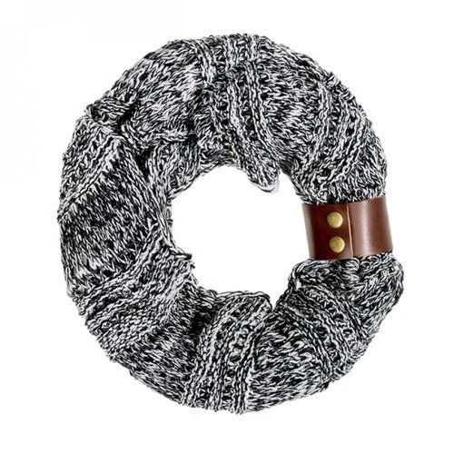 Black Jenna Knit Cowl Scarf