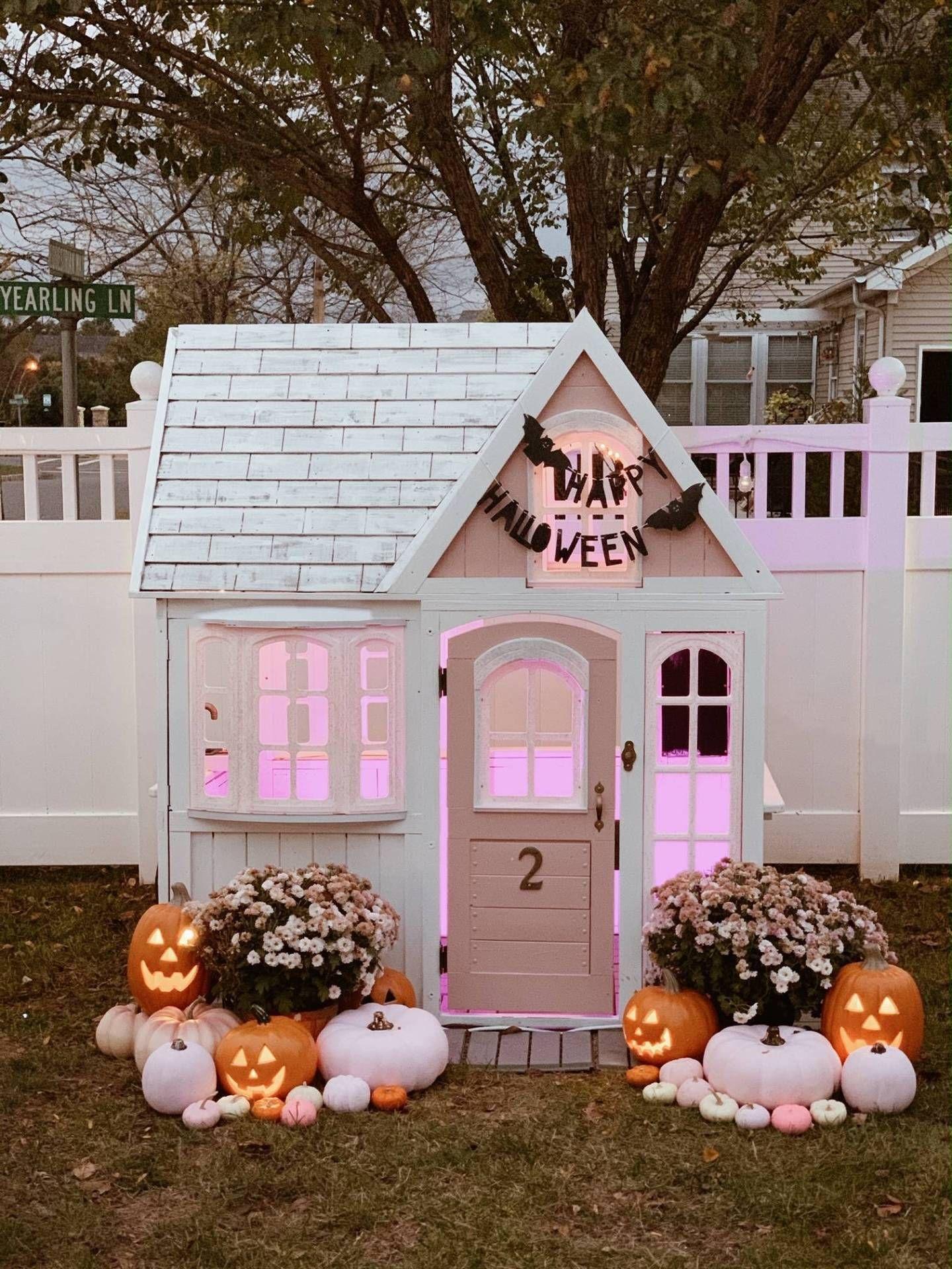 Pink halloween home decor