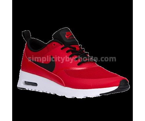 2016 Most Popular Nike Air Max Thea - Women's - Running - Shoes - University Red/Black/White Low prices