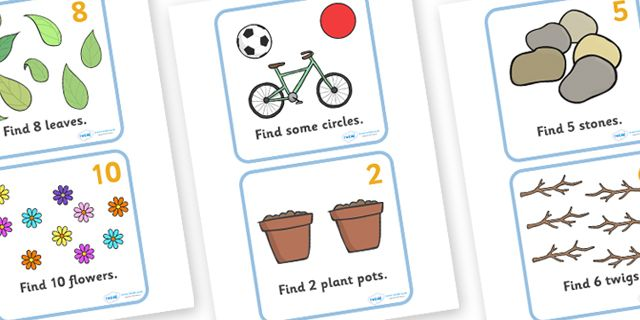 Twinkl Resources >> Outdoor Maths Trail Cards >> Classroom ...
