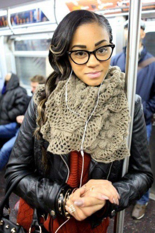 Ebony Teen With Glasses