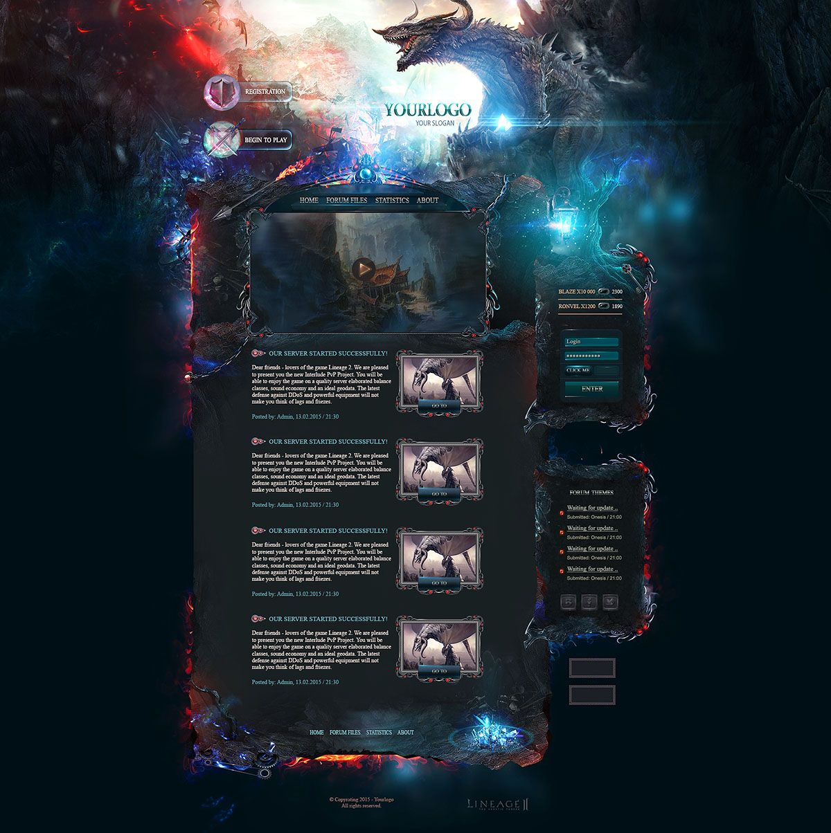 Gaming Website Templates. 24 best gaming html website templates ...