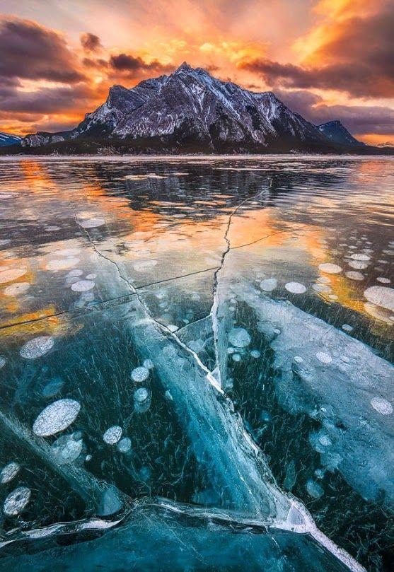 Pars Kutay - Google+ Thundered Ice - Lake Abraham, Canadian Rockies, #Canada   by Artur Stanisz