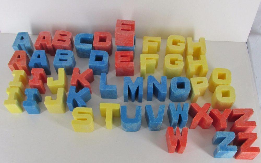 "wooden alphabet building blocks ABC 1 1//4/"" replacement vintage crafts"