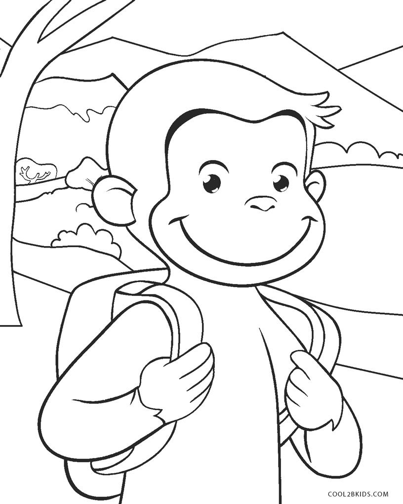Coloring Pages | Cool2bKids | Curious george coloring ...