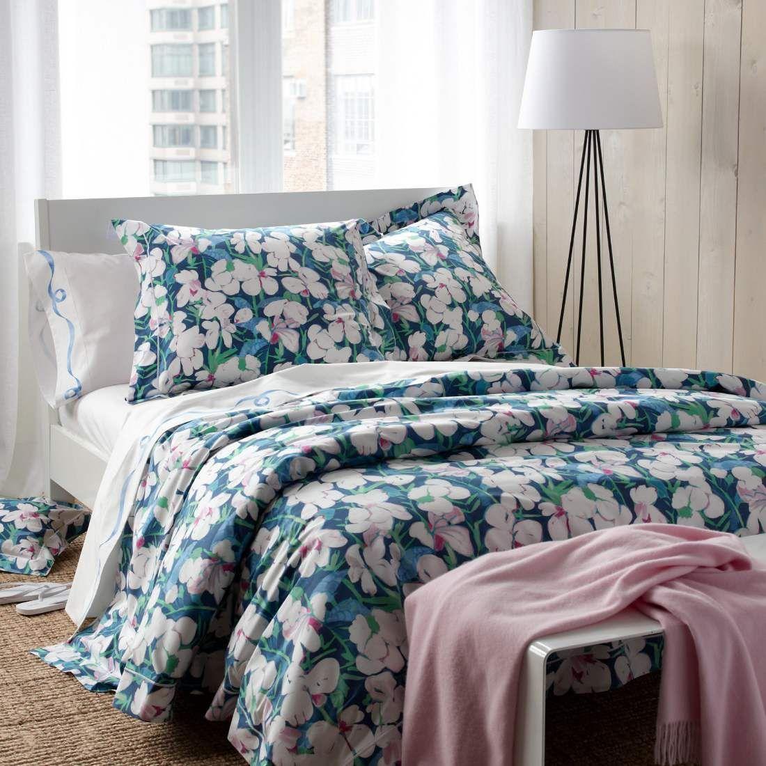 Blue Floral Duvet Covers & Bedding Matouk Lulu DK Viola