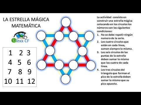 Estrella Mágica Matemática Fácil De Resolver Youtube Acertijos Matematicos Con Respuesta Acertijos Matemáticos Matematicas