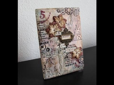 {Scrapbooking} Mixed Media ~ Art Journal ~ Couverture - YouTube