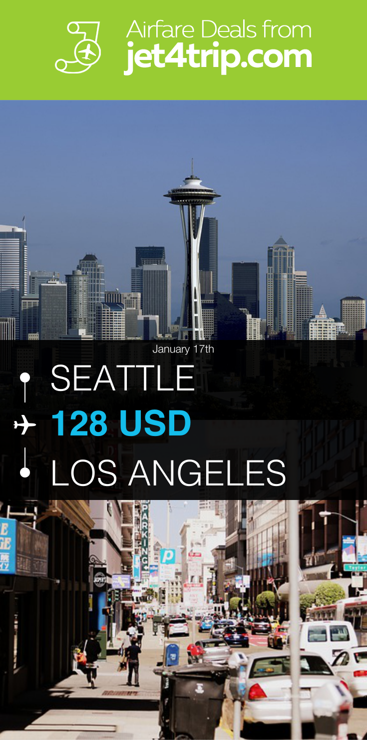 Flight From Seattle To Los Angeles For $128 By Alaska