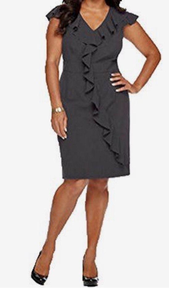 SPENSE WOMAN CAP SLEEVE BANDED WAIST RUFFLE DRESS - PLUS SIZE 20W #Spense #RuffleDress