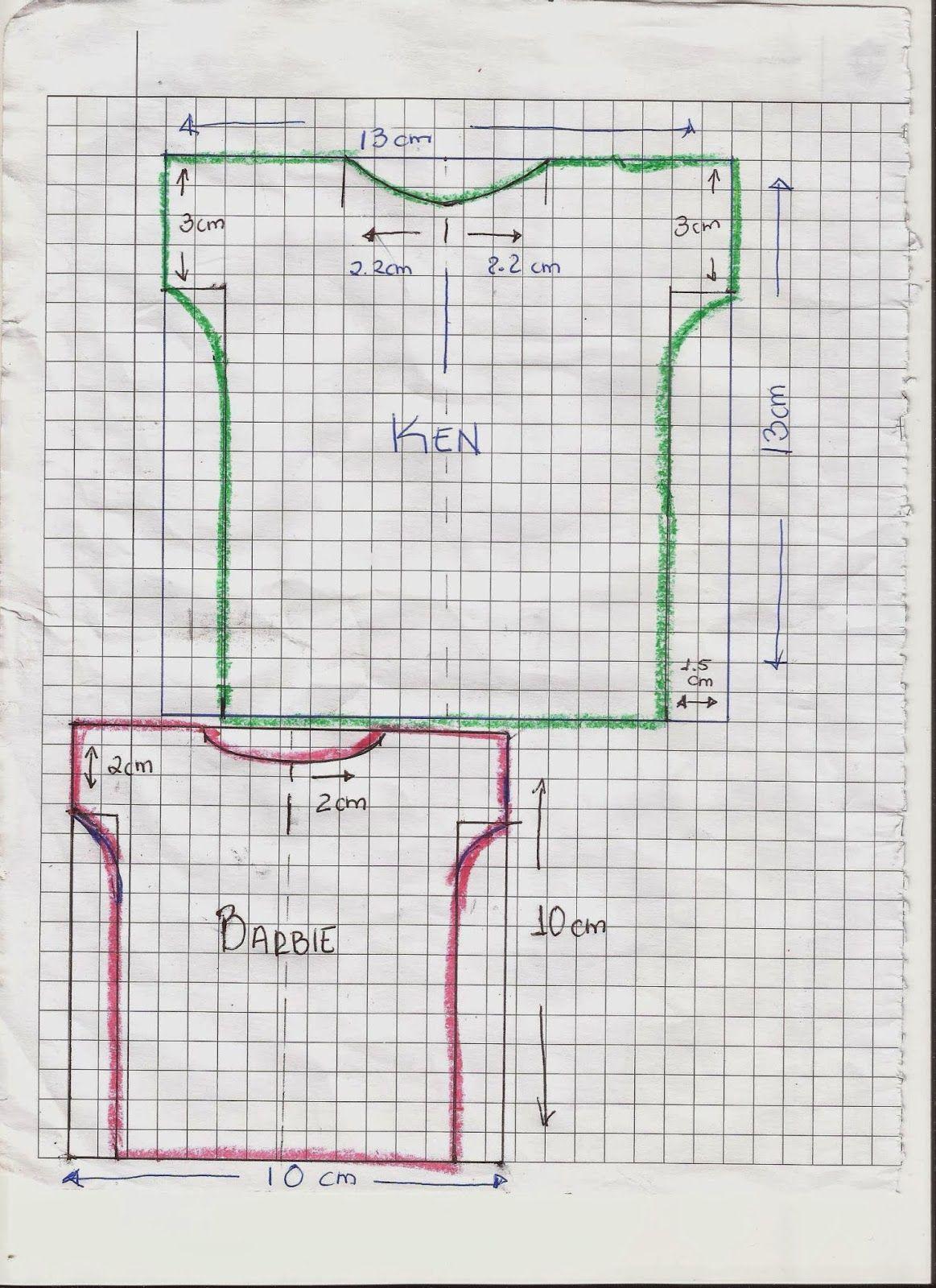 CREANDO IDEAS por EDITH5866: PATRONES PARA ROPITA DE BARBIE,MONSTER ...