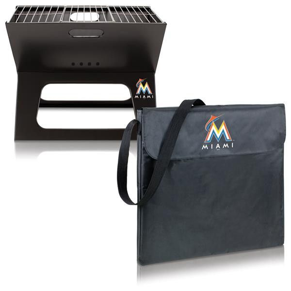 Miami Marlins Digital Print X-Grill Portable Grill Black