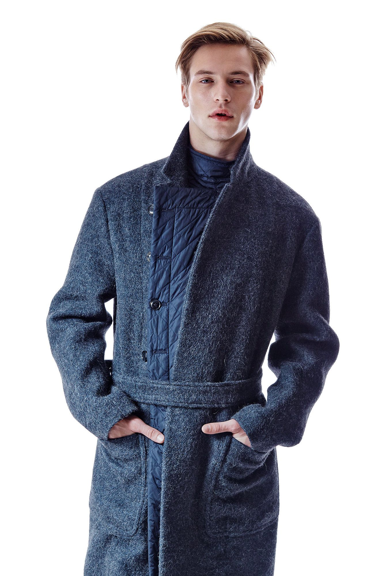 Dries Van Noten wool, alpaca and polyester coat, $2,540 at Bergdorf Goodman. (Photo: Jonathan Grassi for The New York Times)