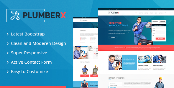 Plumberx - Plumber and Construction HTML Template by DesignArc
