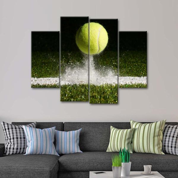 Tennis Showdown Multi Panel Canvas Wall Art Wall Art Canvas Wall Art Wall Art Designs