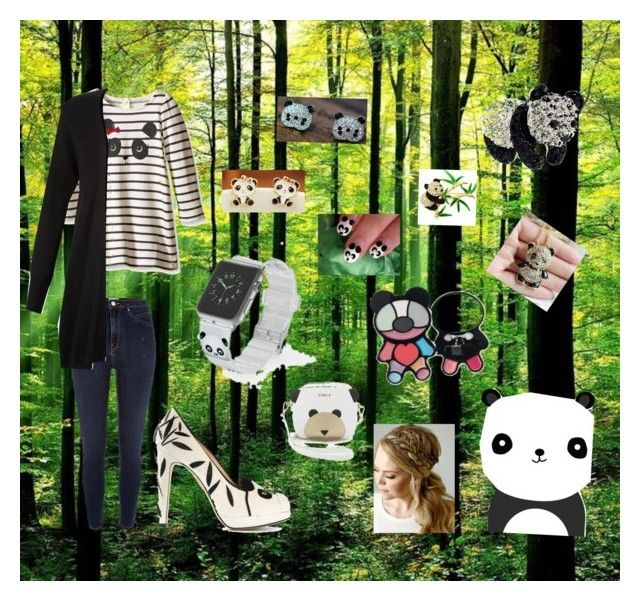 """""""I ❤️ PANDA"""" by mariamq2004123 on Polyvore featuring River Island, Charlotte Olympia, Casetify, Furla, Monsoon, women's clothing, women's fashion, women, female and woman"""