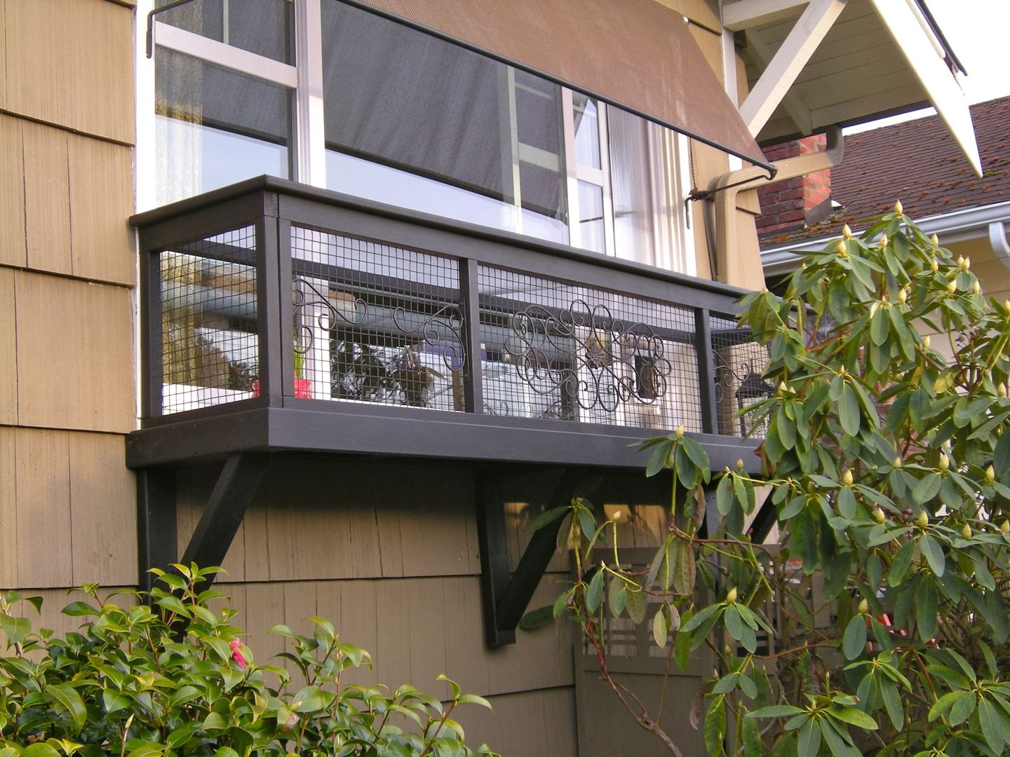 Cat Enclosures Seattle Catio Spaces Window Box Inside