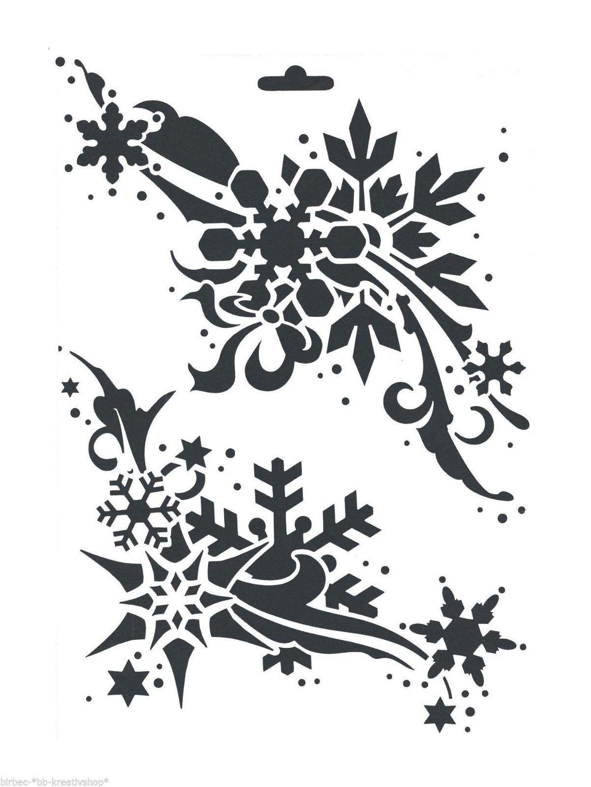 Schablone Heike Schafer Create Yr Fashion Textil Stencil Weihnachten Kristalle Schablonen Weihnachten Kristalle