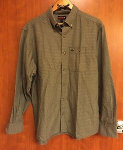 Wolverine Plaid Work Shirt Men 039 S L 100 Cotton Long Sleeve Button Down Ebay Work Shirts Mens Shirts Shirts