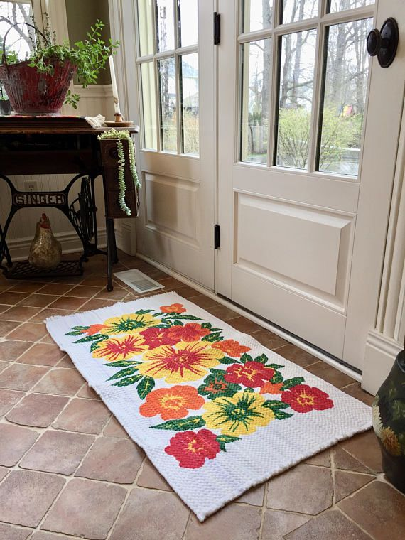 Rug Vintage Throw Area Small Decorative Fl Colorful Door
