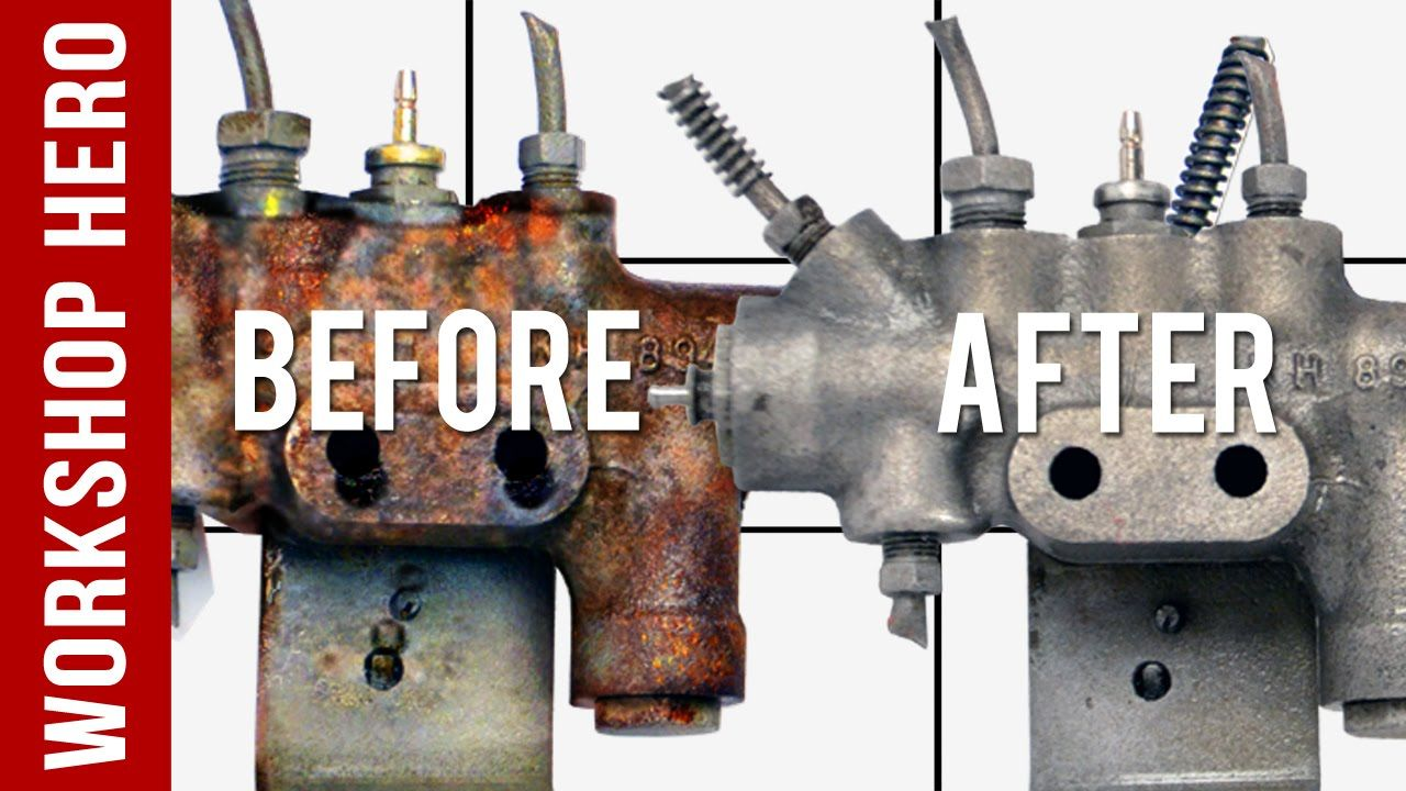 How To Remove Rust From A Metal Car Part Prop Valve How