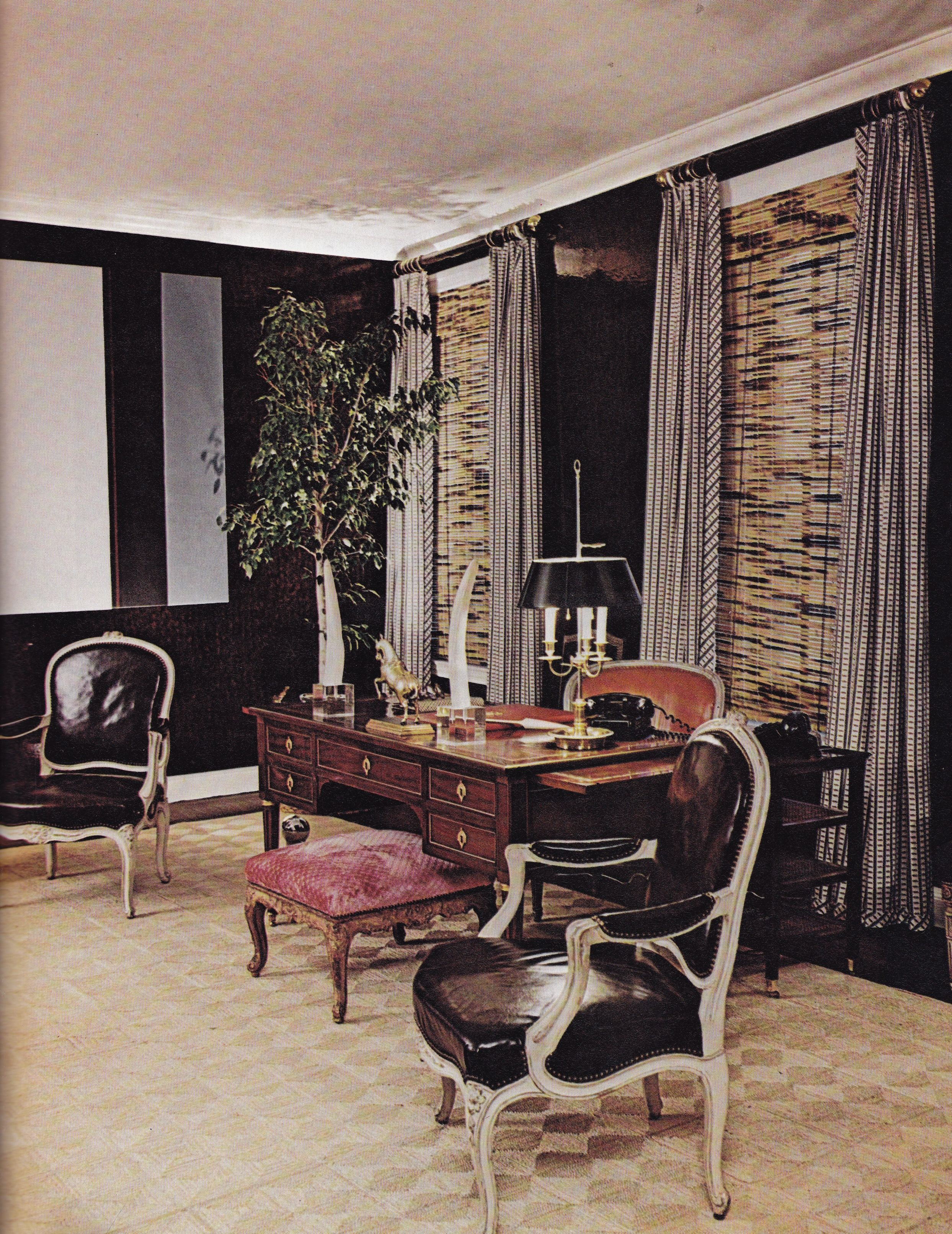 Kevin mcnamara brown living room the ny times book of interior design and decoration norman mcgrath