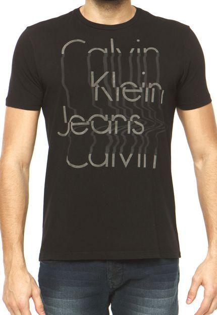 Camiseta Calvin Klein Jeans Preta - Marca Calvin Klein Jeans   Men s ... 3953740d08
