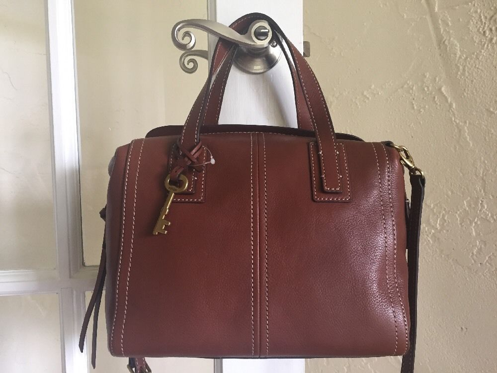 Fossil Emma Satchel Brown Leather ZB6847  Fossil  Satchel cfd3f1bf0e