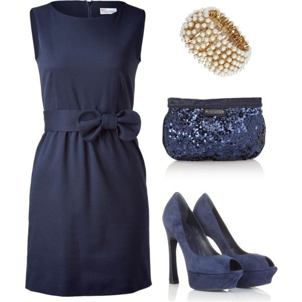 Evening Out (VALENTINO R.E.D. Blue Bow Embellished Dress $413)