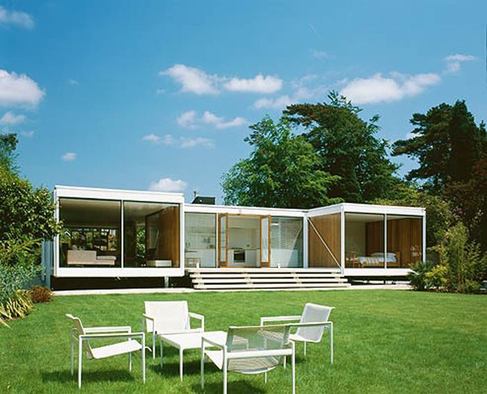 Front Yard Of H Shape House 20th Century Design Danish Modern