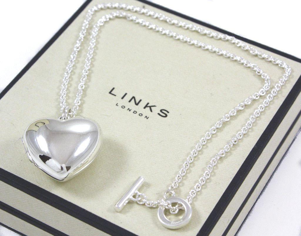 Sterling Silver Heart Locket Pendant On T Bar Necklace Lush Labels Ifypicks Links Of Londonheart