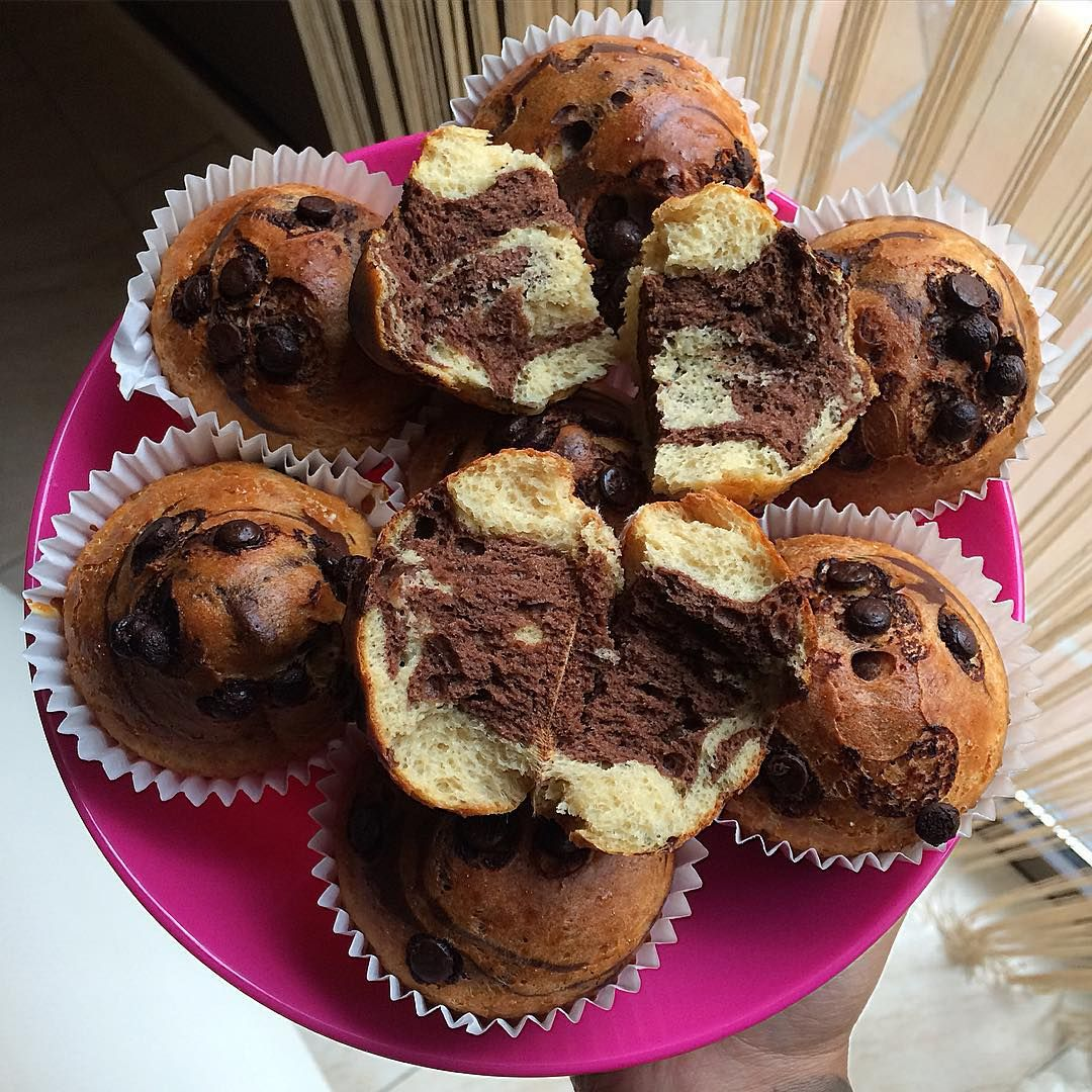 "Muffins de vainilla y chocolate ""fit"""