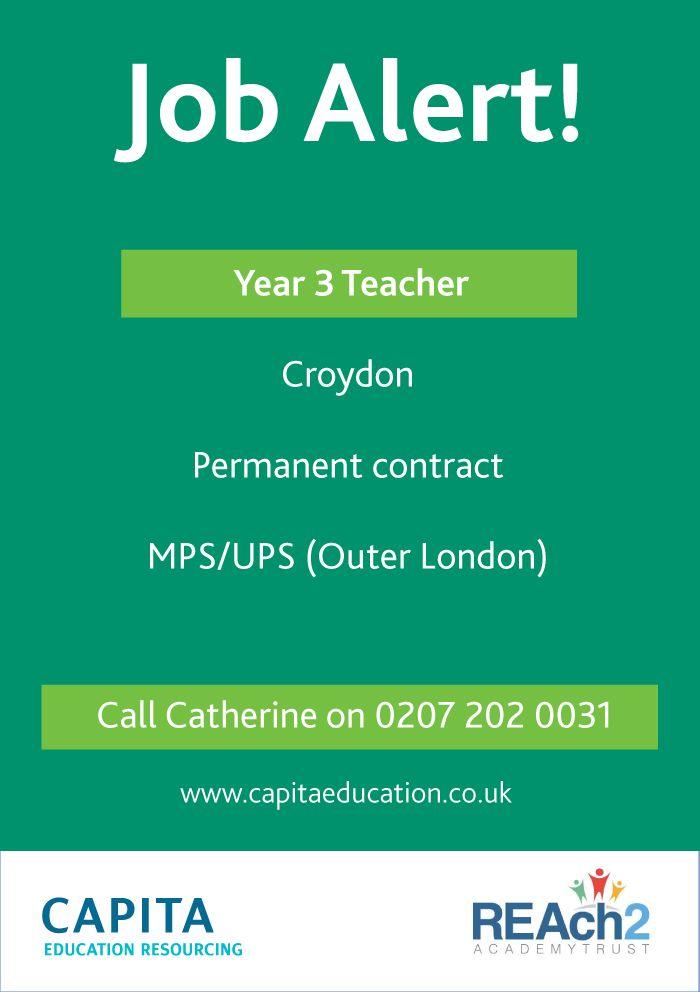 Reach2 Academy Trust >> Year 3 Teacher In Croydon For Reach2 Academy Trust Email