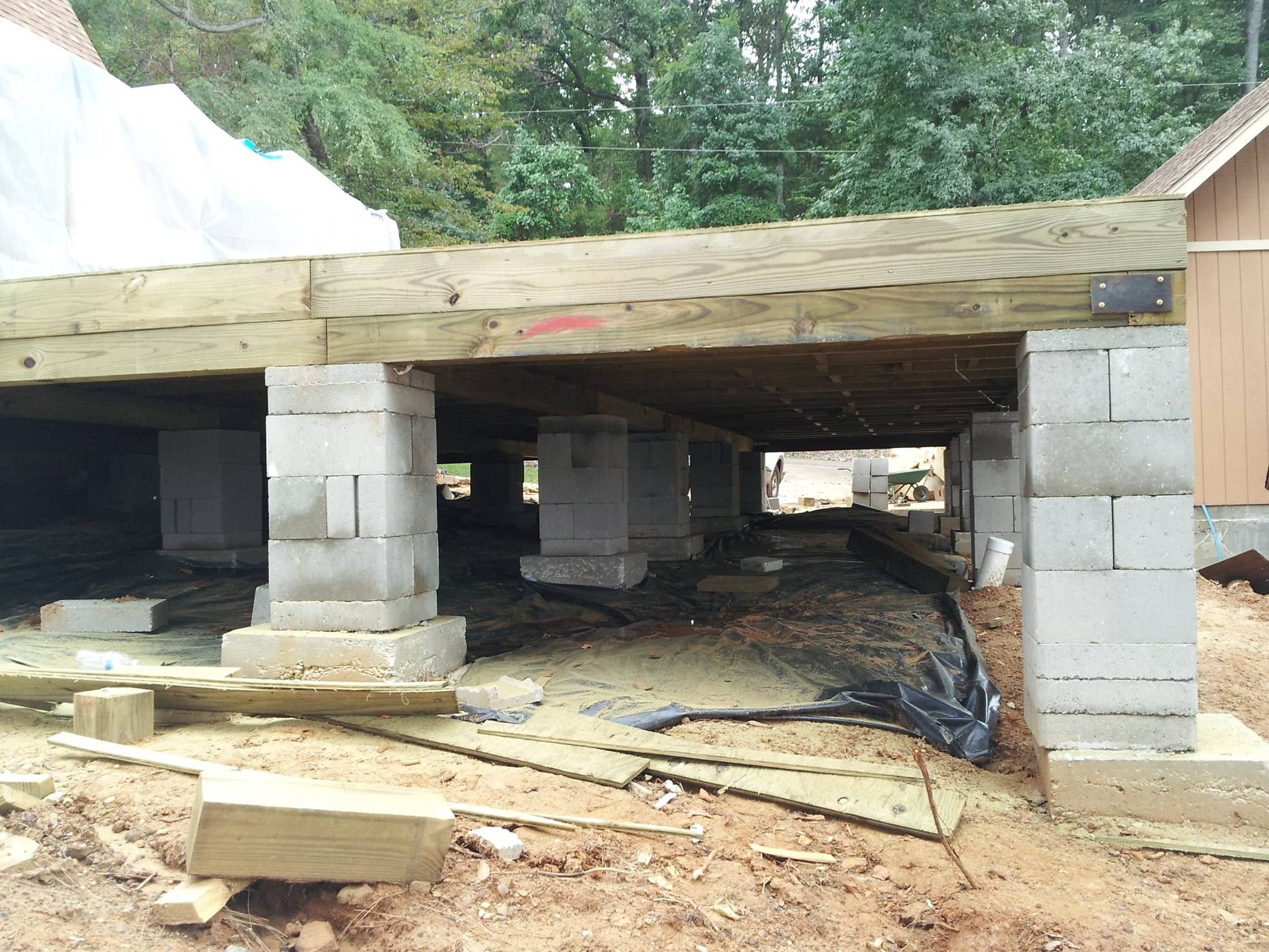Lovely how to build a crawl space foundation for a house for Crawl space foundation